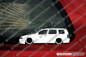 2x Low car outline stickers - for Volkswagen VW Polo mk3 estate 6kv variant